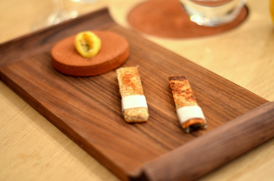 House of Haos Restaurant David Toutain Paris Croque Monsieur Onion Compote Smoked Eel Parmesan Beurre Noisette Emulsion