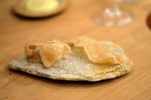 House of Haos Restaurant David Toutain Paris Pork Rinds