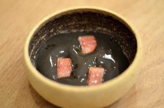 House of Haos Restaurant David Toutain Paris Smoked Fish Black Sesame Mousse