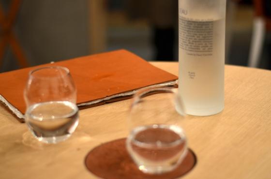 House of Haos Restaurant David Toutain Paris Wine Menu Water