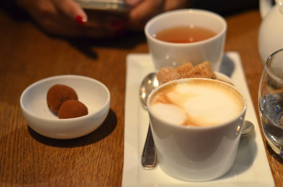 House of Haos Spring Restaurant Paris Chocolate Truffle Cappuccino Tea
