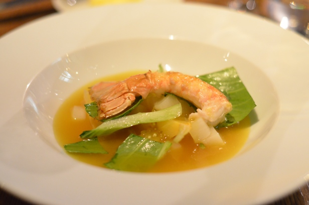 House of Haos Spring Restaurant Paris Langoustine Bok Choy Tapioca Pearls
