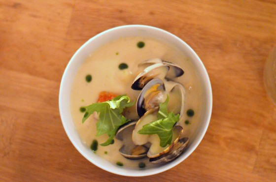 House of Haos Verjus Paris France Clams Artichoke Puree
