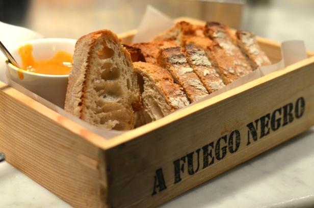 House of Haos A Fuego Negro Tapas St Sebastian Basque Country Spain Bread Basket