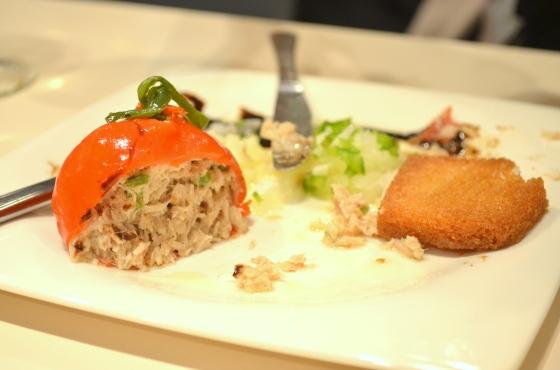 House of Haos Zeruko Tapas St Sebastian Basque Country Spain Red Pepper Tuna Stuffed