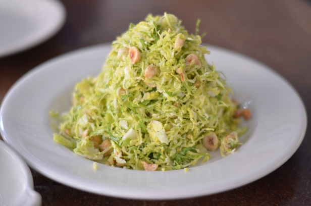 House of Haos Barbuto West Village NYC New York City Shaved Brussels Sprouts Salad