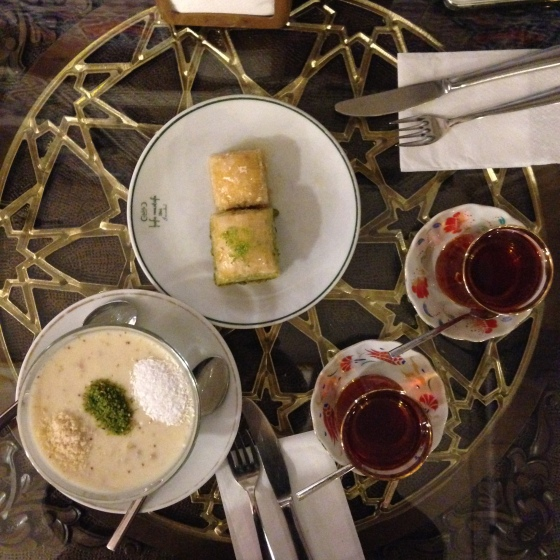 House of Haos Hafiz Mustafa Istanbul Turkey Milk Pistachio Pastries Fig Pudding Turkish Tea