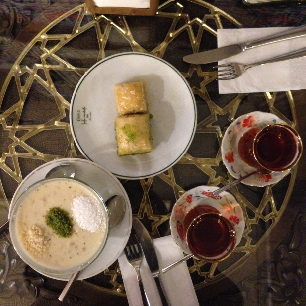 House of Haos Hafiz Mustafa Istanbul Turkey Milk Pistachio Pastries Fig Pudding Turkish Tea