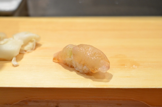 House of Haos Tanoshi Sushi Upper East Side NYC New York City Fluke Cured with Kelp