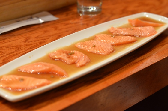 House of Haos Tanoshi Sushi Upper East Side NYC New York City Salmon Tataki