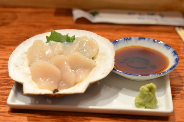 House of Haos Tanoshi Sushi Upper East Side NYC New York City Scallop Sashimi