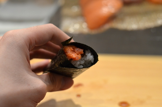 House of Haos Tanoshi Sushi Upper East Side NYC New York City Spicy Tuna Hand Roll