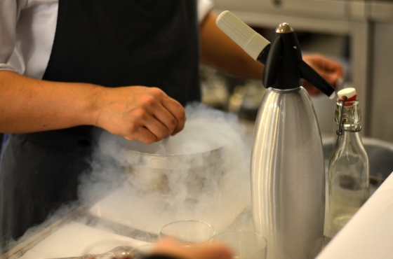 House of Haos Eleven Madison Park Flatiron NYC Tasting Menu Dry Ice Dessert