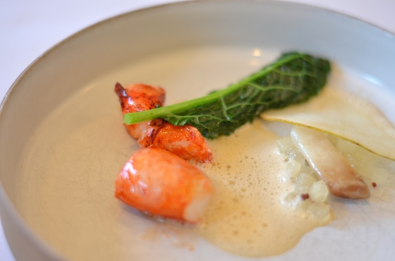 House of Haos Eleven Madison Park Flatiron NYC Tasting Menu Poached Lobster Razor Clam Sea Urchin Uni Kale 2