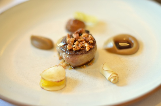 House of Haos Eleven Madison Park Flatiron NYC Tasting Menu Seared Foie Gras Sunchokes Hazelnuts Solera Vinegar