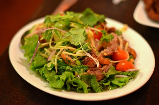 House of Haos Sripraphai Woodside Queens NYC Roasted Duck Salad