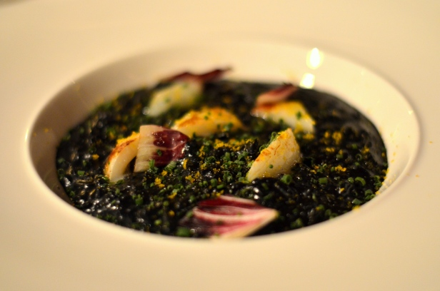 House of Haos All'onda Union Square NYC Risotto Nero Sepia Bottarga