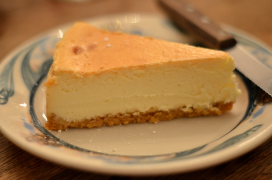 House of Haos Peter Luger Steakhouse Brooklyn NYC Cheesecake