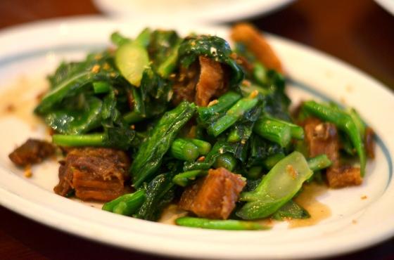 House of Haos Ayada Thai Woodside Queens  NYC Crispy Pork Broccoli