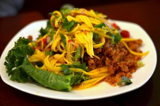 House of Haos Ayada Thai Woodside Queens  NYC Fried Catfish Mango Salad