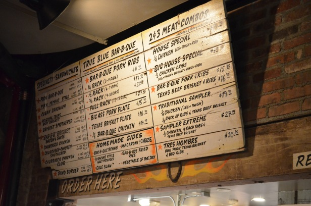 House of Haos Dinosaur BBQ Harlem NYC Menu