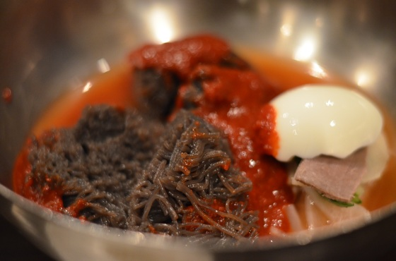 House of Haos Dons Bogam NYC Korean BBQ Nangmyeong Buckwheat Noodles