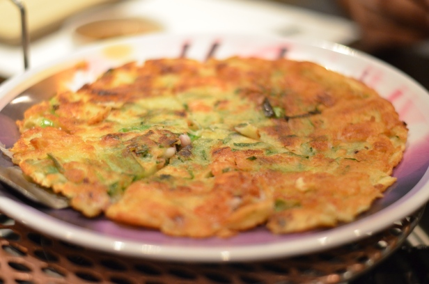 House of Haos Dons Bogam NYC Korean BBQ Seafood Pancake