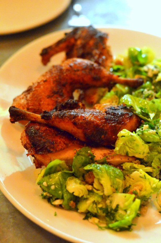 House of Haos Il Buco Alimentari Noho NYC Roasted Chicken Brussels Sprouts 2