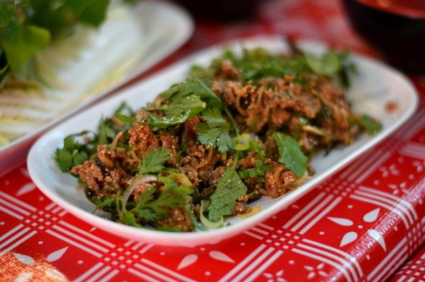 House of Haos Pok Pok Brooklyn NYC Duck Larb