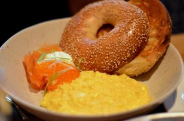 House of Haos The Dutch Soho NYC Soft Scrambled Eggs Salmon Bagel