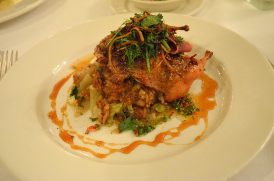 House of Hao's New Orleans Louisiana Commander's Palace Coffee Lacquered Quail