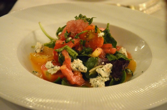 House of Hao's New Orleans Louisiana Commander's Palace Tomato Bleu Cheese Salad