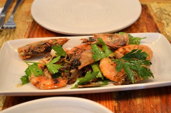 House of Hao's Peche New Orleans Louisiana Head-on Shrimp