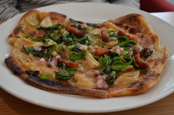House of Haos Untitled Whitney Meatpacking NYC Bacon Flatbread
