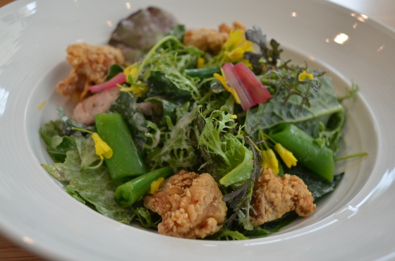 House of Haos Untitled Whitney Meatpacking NYC Fried Chicken Salad Snap Peas Kale