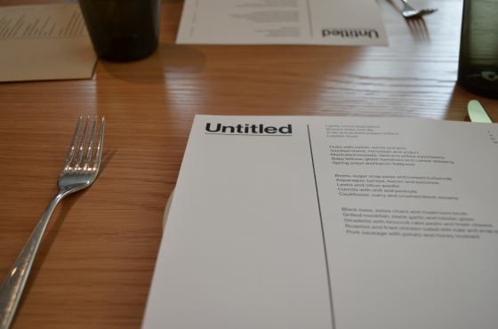 House of Haos Untitled Whitney Meatpacking NYC Menu