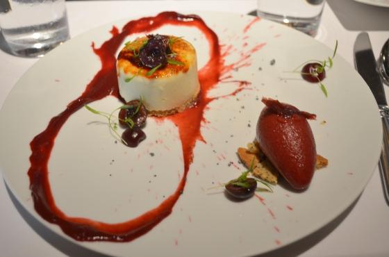 Houseofhaos Gramercy Tavern New York Dessert Cherry Cheesecake