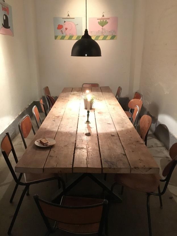 Communal Table at Snickerbacken 7 Cafe Stockholm Sweden