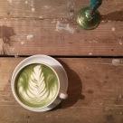 Matcha latte at Snickerbacken 7 Cafe Stockholm Sweden