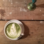 Matcha latte at Snickerbacken 7 Cafe Stockholm Sweden