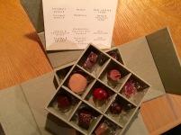 Chocolates mignardises at Oaxen Krog