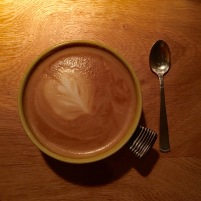 Latte at Oaxen Krog in Stockholm Michelin star