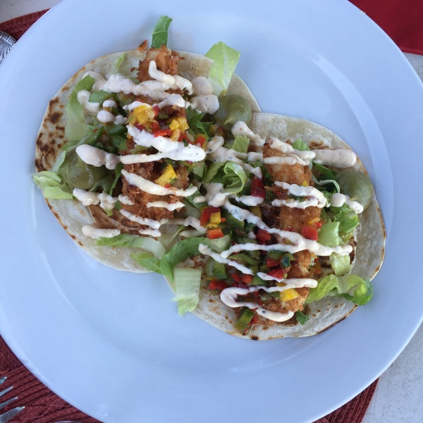 Fish tacos at Las Brisas Chalk Sound Providenciales Turks & Caicos
