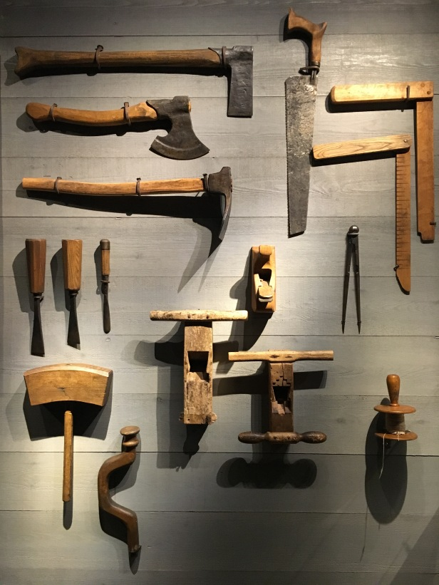 Shipbuilding tools at Vasa Museum, Stockholm, Sweden